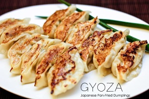 photo of Japanese potstickers