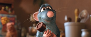 Cartoon image from Pixar's Ratatouille