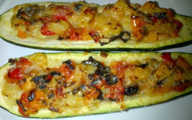 Photo, stuffed zucchini