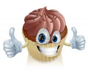 smiling cupcake image