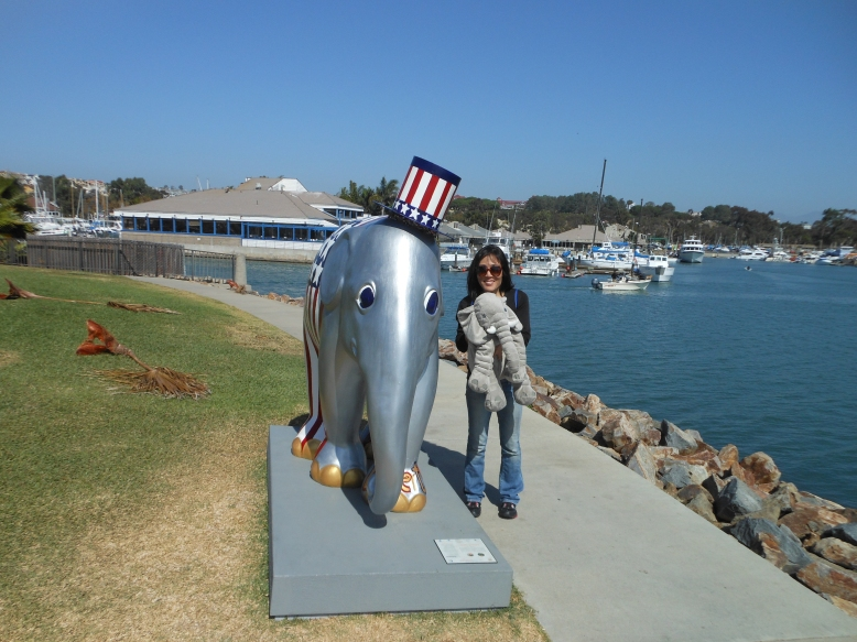 photo of me at the U.S. Elephant Parade