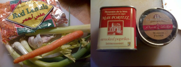 Photo of soup ingredients