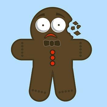stressed gingerbread man