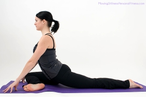 photo of pigeon pose