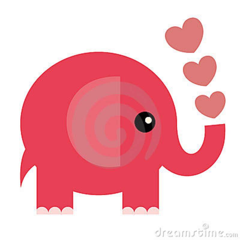 jumbo size thanks - Elephant Valentine