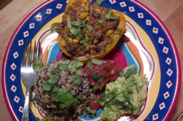 Sunday Supper - Vegan Taco Stuffed Peppers