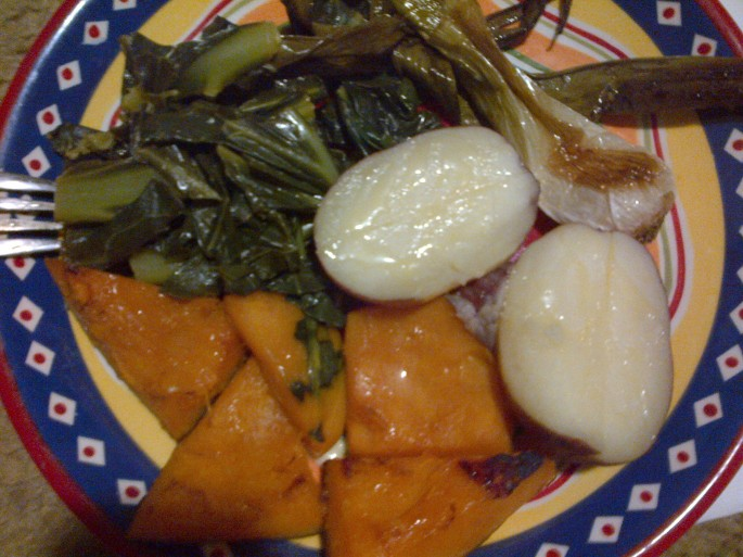 photo of cooked vegetables