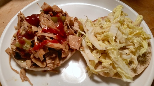 photo of open-faced sandwich