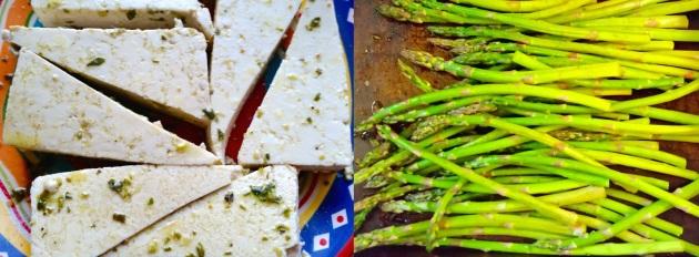 photo of tofu and asparagus