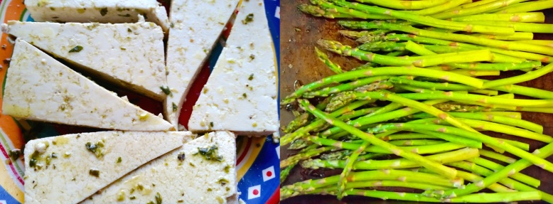 photo of tofu and asparagus
