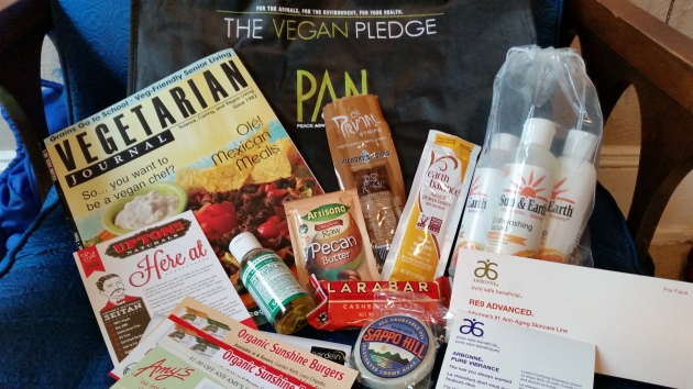 contents of the pledge goodie bag
