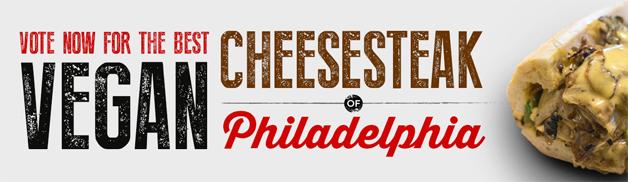 flyer for vegan cheesesteak