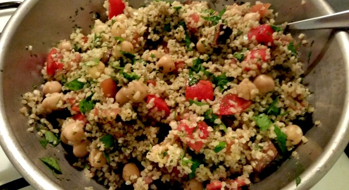 photo of a bowl of tabbouleh