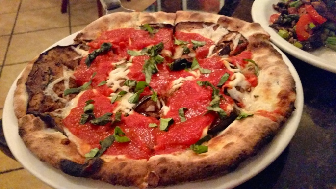 photo of roasted eggplant pizza